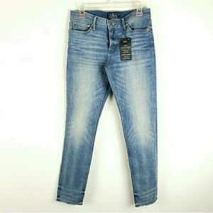 Lucky Brand Lolita Skinny Jeans Raw Edge Hem Blue
